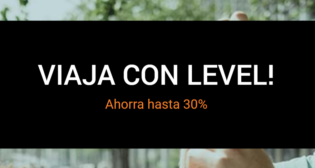 30% de DESCUENTO </BR> en LEVEL (Iberia) </br> Cruza el charco x menos de 100€ trayecto